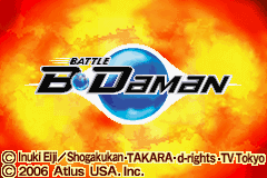 Battle B-Daman GBA Screenshot Screenshot 1