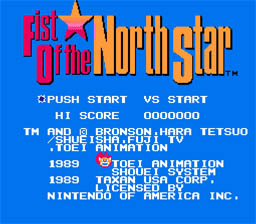 Fist of the North Star NES Screenshot Screenshot 1
