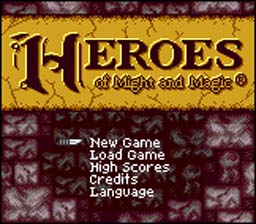 Might and Magic: Heroes of Might and Magic GBC Screenshot Screenshot 1