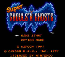 Super Ghouls 'n Ghosts screen shot 1 1